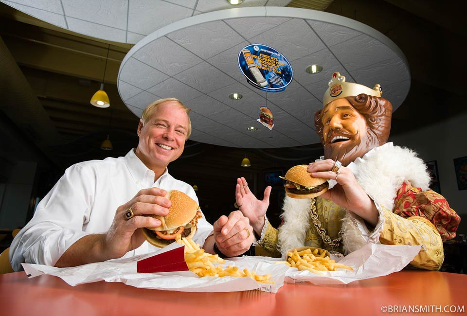 commercial phography portraits of burger king executives