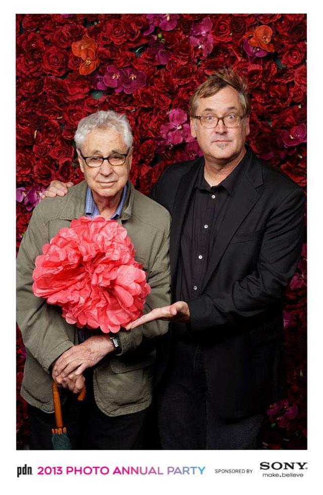 Photographers Elliott Erwitt and Brian Smith at PDN Awards 2013