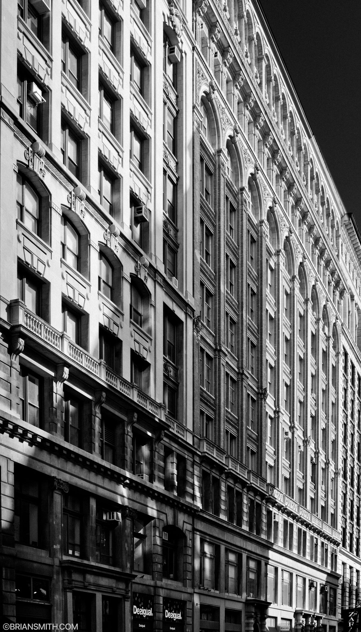 architectural photography of Broadway lower manhattan