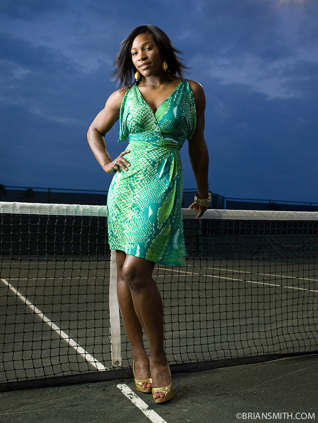 Tennis star Serena Williams photographed by Brian Smith