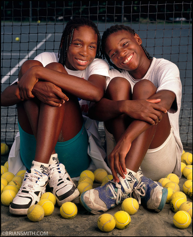Brian Smith portrait of Venus and Serena Williams
