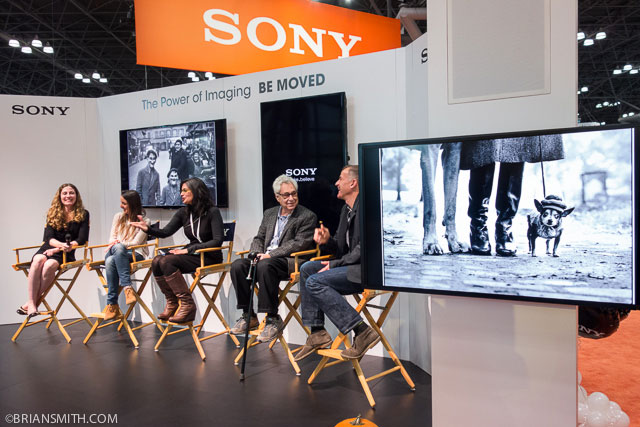 elliott erwitt speaks at sony booth at ppe 2013