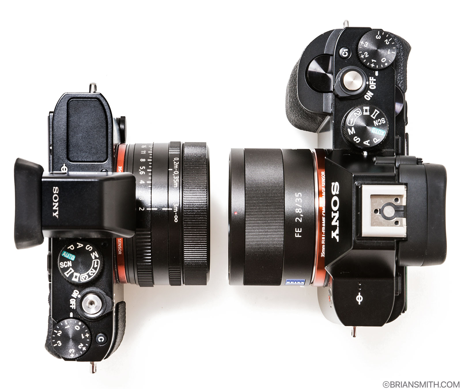 Sony RX1 and a7R size comparison
