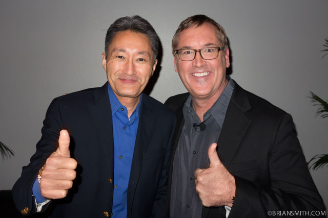Sony CEO Kazuo Hirai with Sony Artisan Brian Smith
