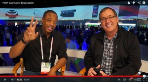 frederick van hohnson and brisn smith at ces 2014