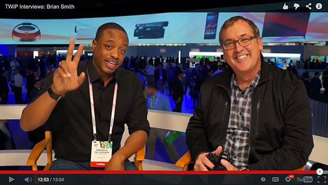 Frederick Van Johnson interviews Brian Smith at CES