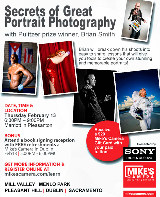 Brian Smith Secrets of Great Portrait Photography - Mikes Camera