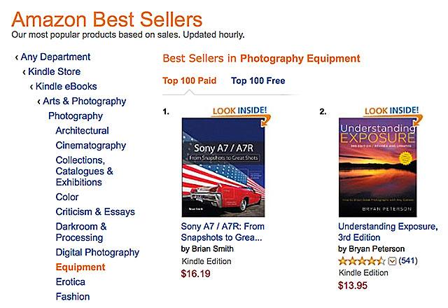 sony a7 a7r kindle book amazon
