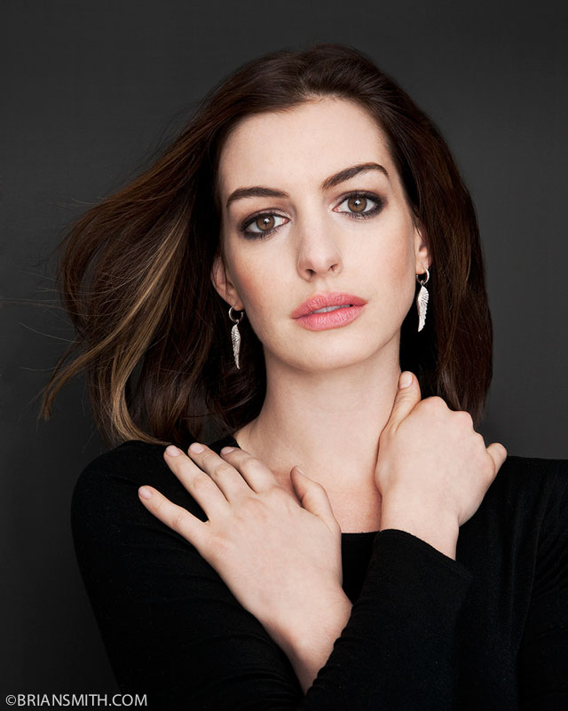 celebrity portrait photography of Anne Hathaway