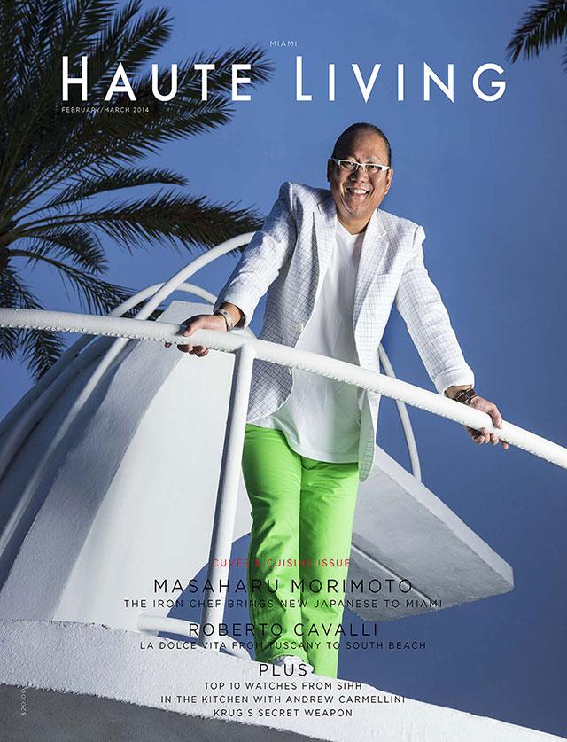 Miami photographer Brian Smith portrait photography cover shoot of iron chef morimoto