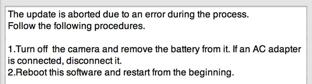 Sony-FW-Update-Error