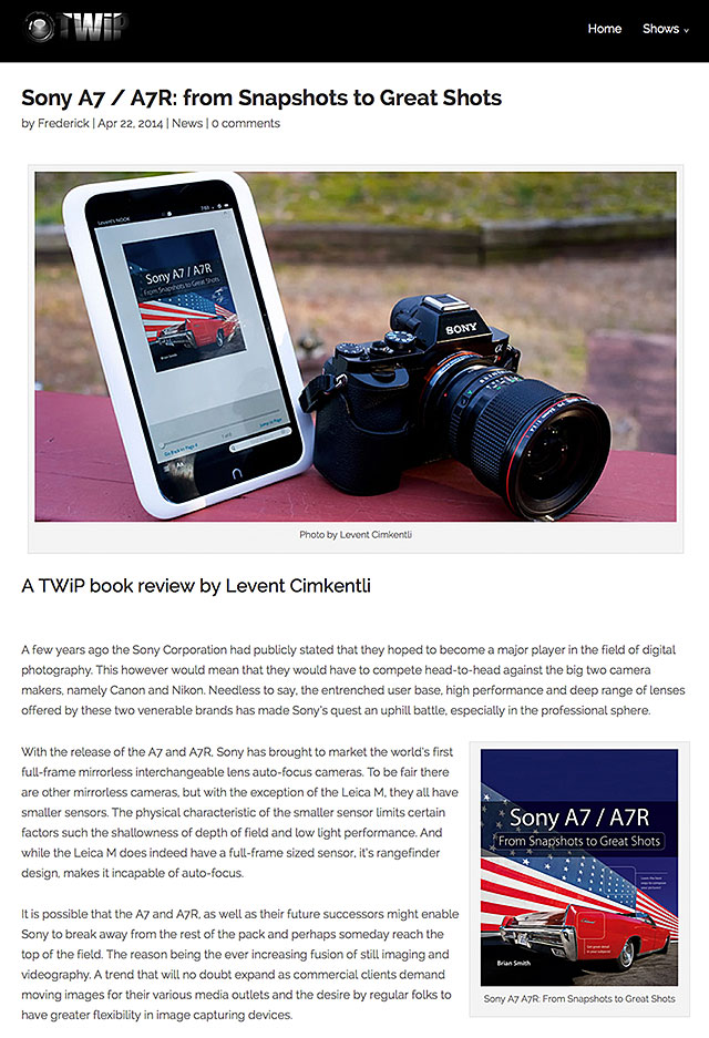 This Week in Photography Reviews Sony A7 A7R book