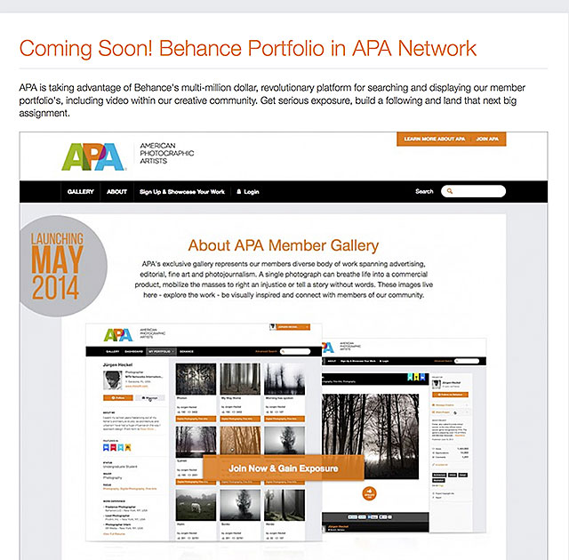 APA American Photographic Artists Portfolios