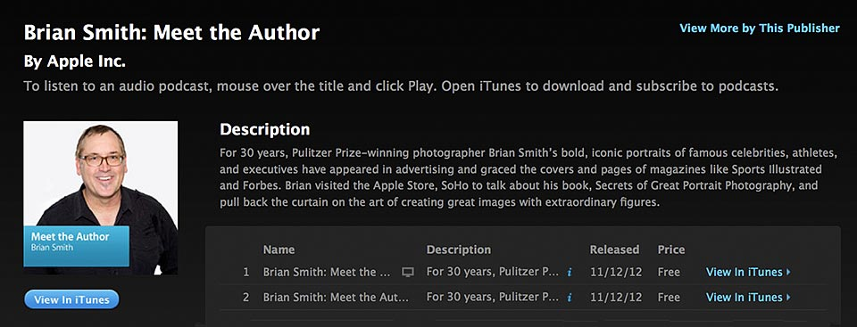 Meet the Author Brian Smith iTunes podcast