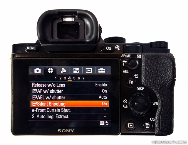 Sony a7s silent shooting mode