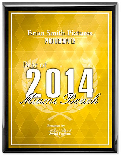 Brian Smith Pictures Wins 2014 Best of Miami Beach Award