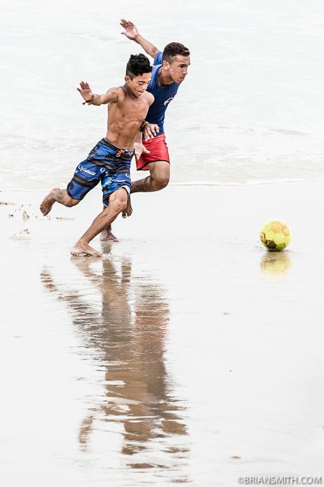 Soccer on Natal Beach