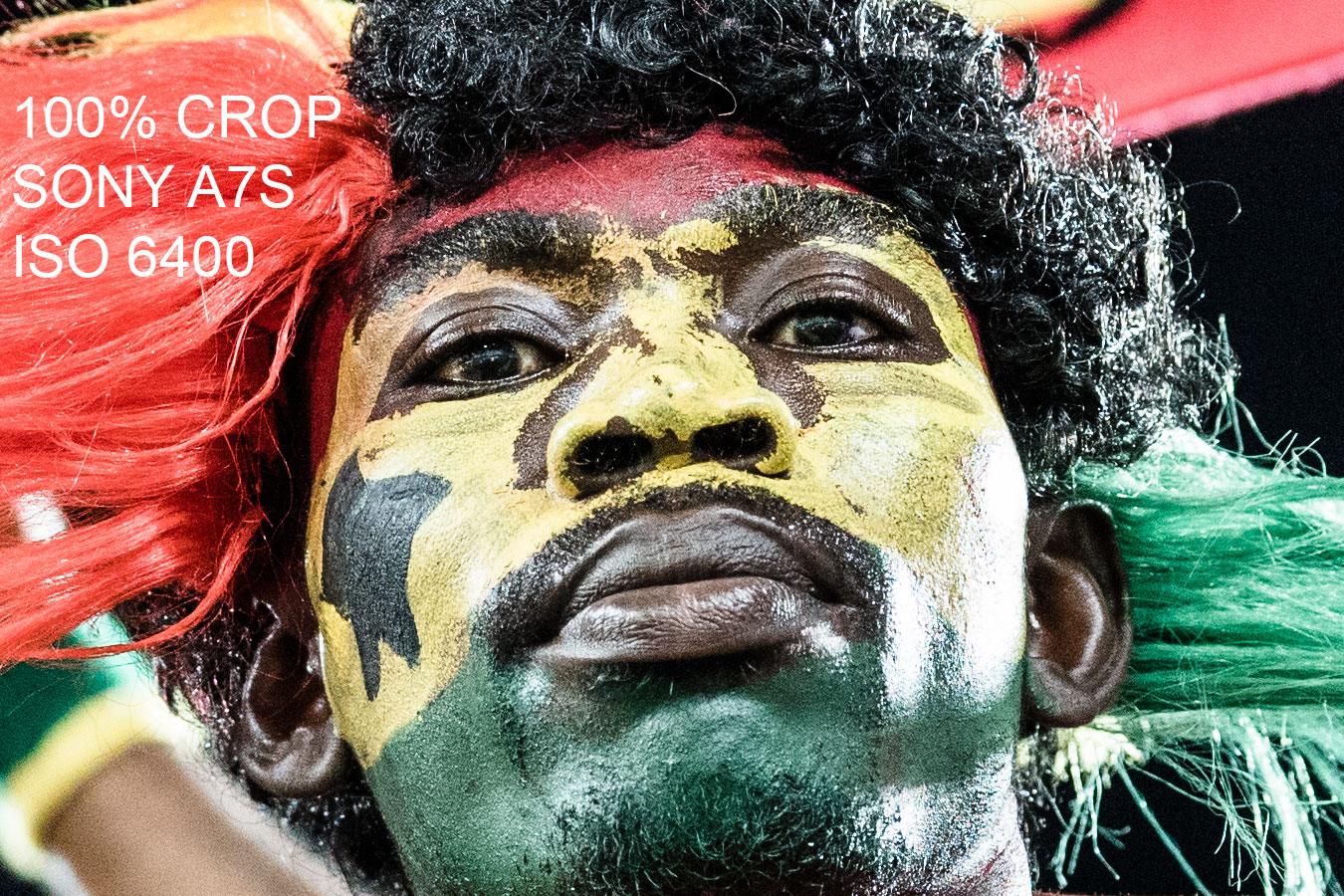 World Cup Ghana fan in Natal, Brazil