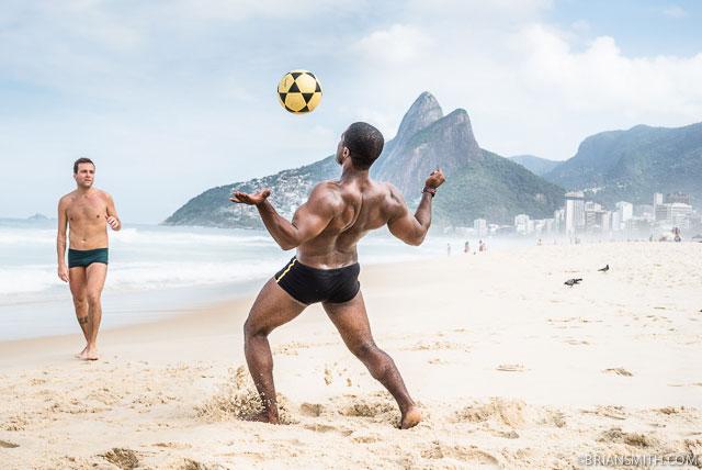 Soccer on Ipanema Beach Rio de Janeiro, Brazil