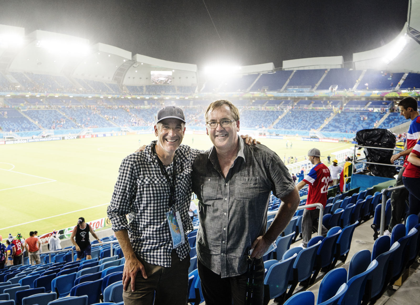 Sony Artisans David McLain and Brian Smith at FIFA World Cup in Natal, Brazil