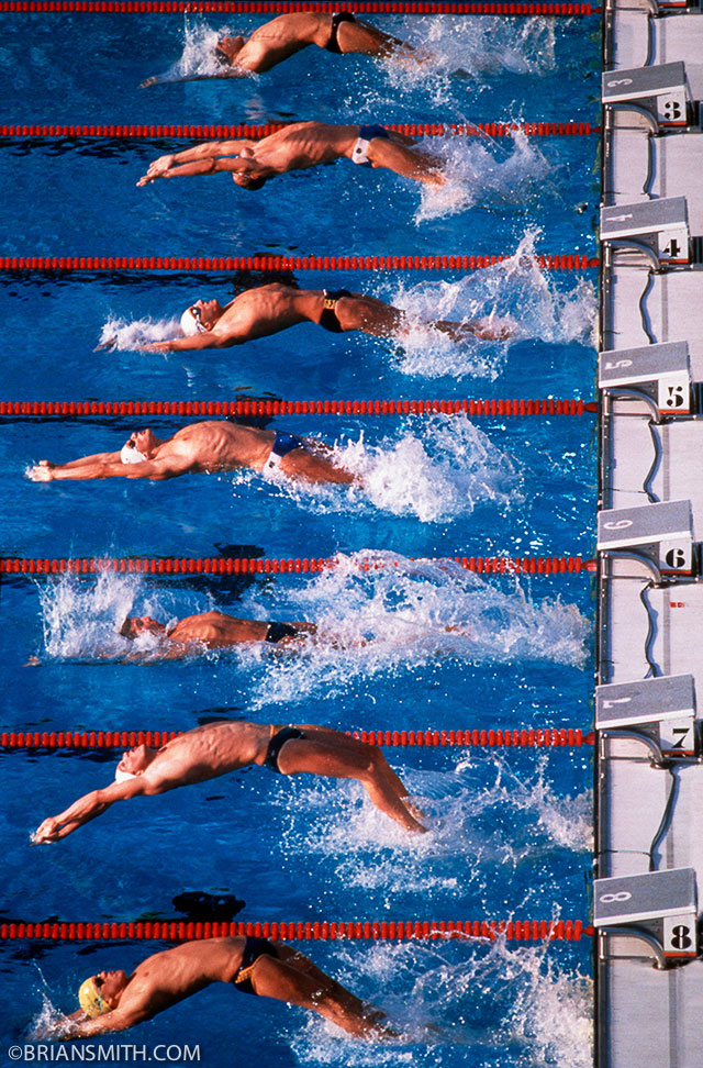 1984 Olympic Backstroke photographed by Brian Smith