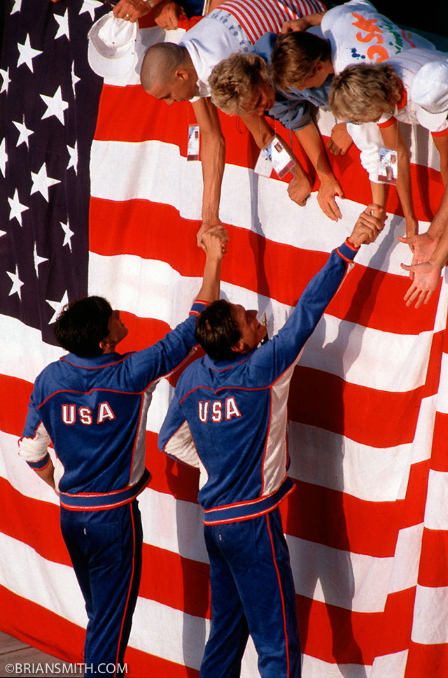 American Swimmers win gold at 1984 Los Angeles Olympics