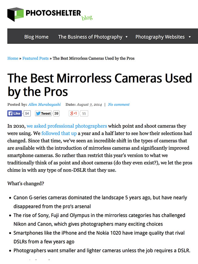 PhotoShelter-Mirrorless-Cameras