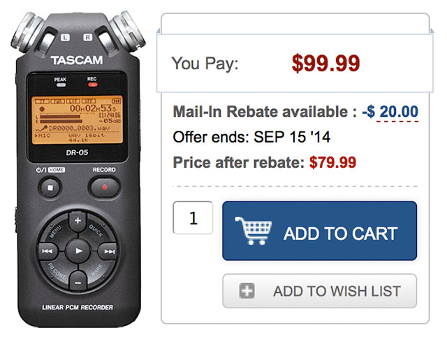 Tascam-DR-05-Digital-Recorder