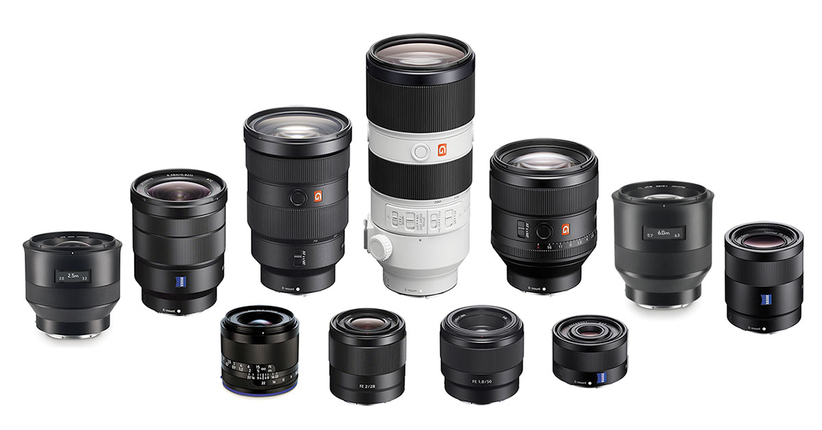Ultimate Fullframe E-mount FE Lens Guide for Sony a7 & a9 Cameras