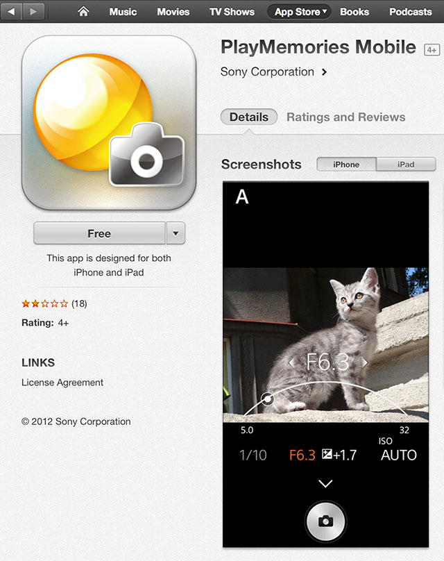 Sony-Play-Memories-App