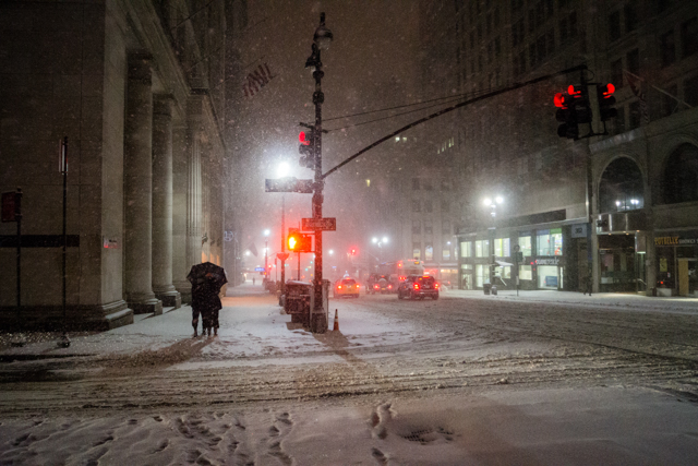 Winter Night - One Moment - New York City