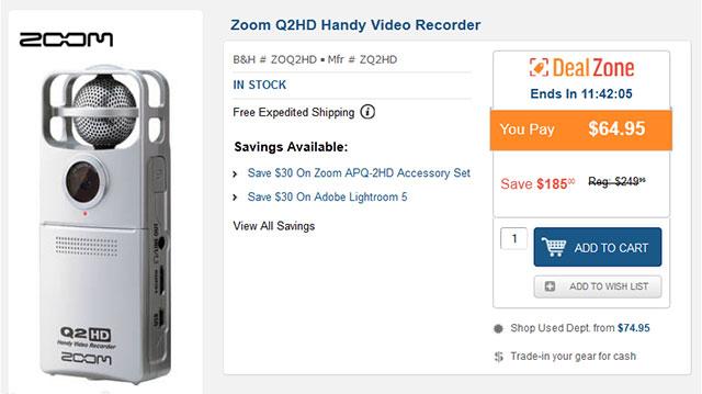 Zoom-Q2HD-Video-Recorder