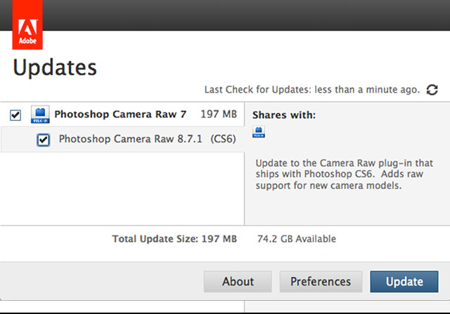 How to Manually update Camera RAW? Error messag ... - Adobe