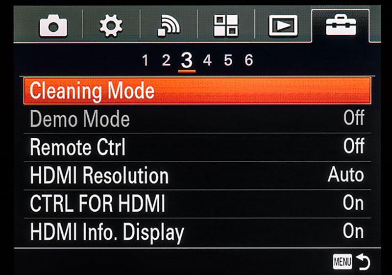 Sensor Cleaning Mode