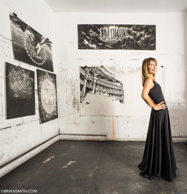 Ximena Caminos photographed in Gonzalo Fuenmayor's Studio