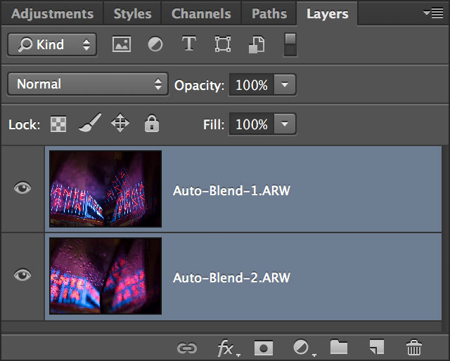 how to use auto blend layers in photoshop cs6