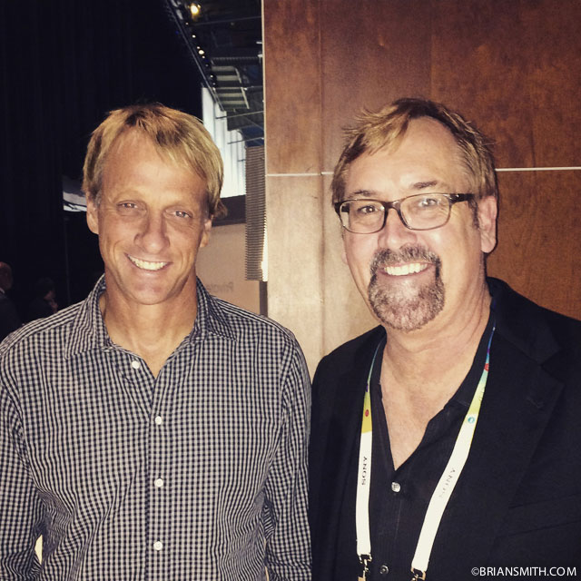 Tony Hawk and Brian Smith at CES 2015