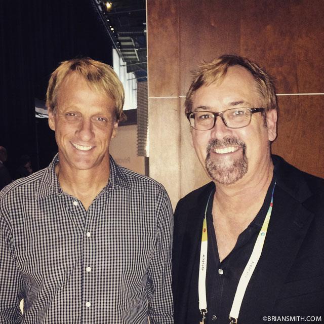 Tony Hawk and Brian Smith at CES 2015