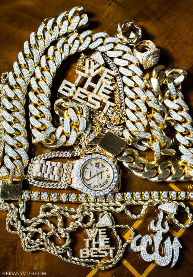 DJ Khaled's Bling photographed at his waterfront Miami mansion for Billboard magazine