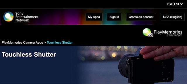Sony-Touchless-Shutter-App