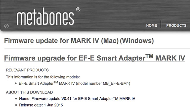 Metabones-Smart-Adapter-IV-FW-0-41-Update