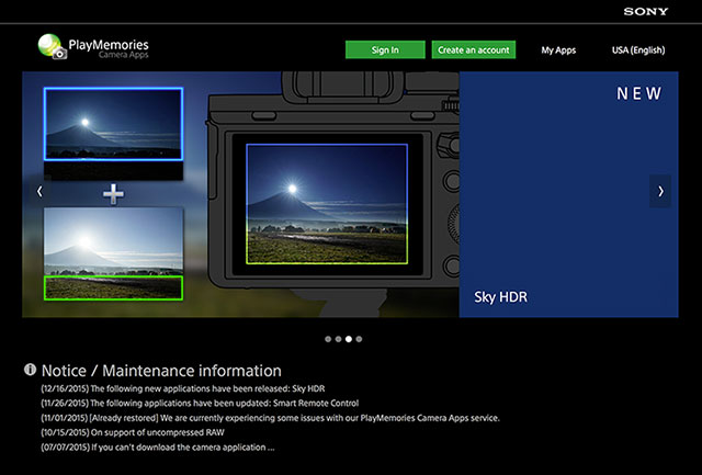 Installing & Updating Sony Play Memories Camera Apps