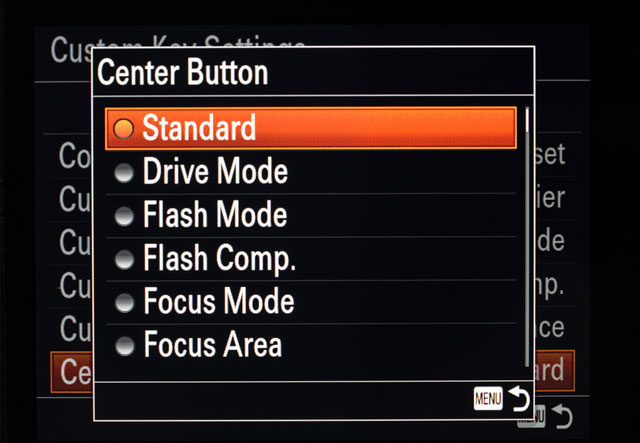 Sony a7 Center Button AF