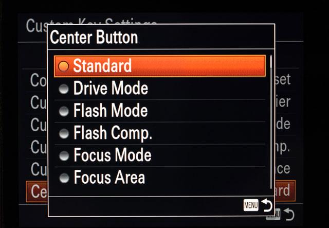 Sony a7 Center Button AF