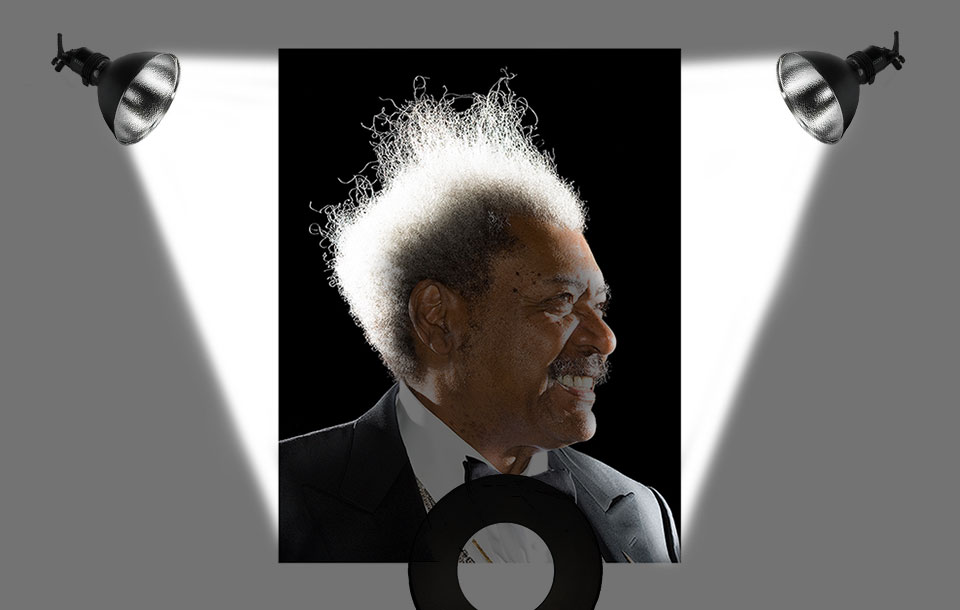 Boxing Promoter Don King photographed by Brian Smith