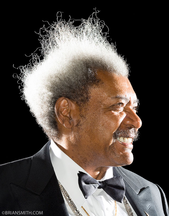 Boxing Promoter Don King photographed by Brian Smith for Forbes