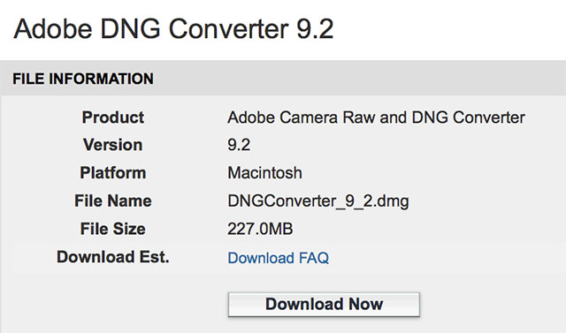 Adobe DNG Converter 9 2 adds Sony a7SII Support