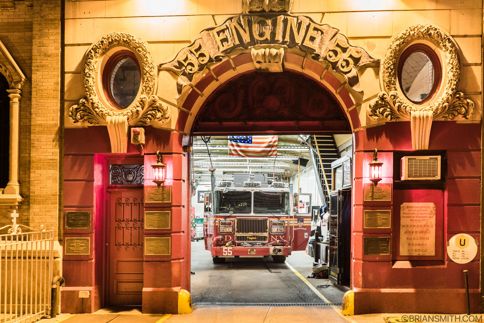 Sony a7SII New York firehouse at night