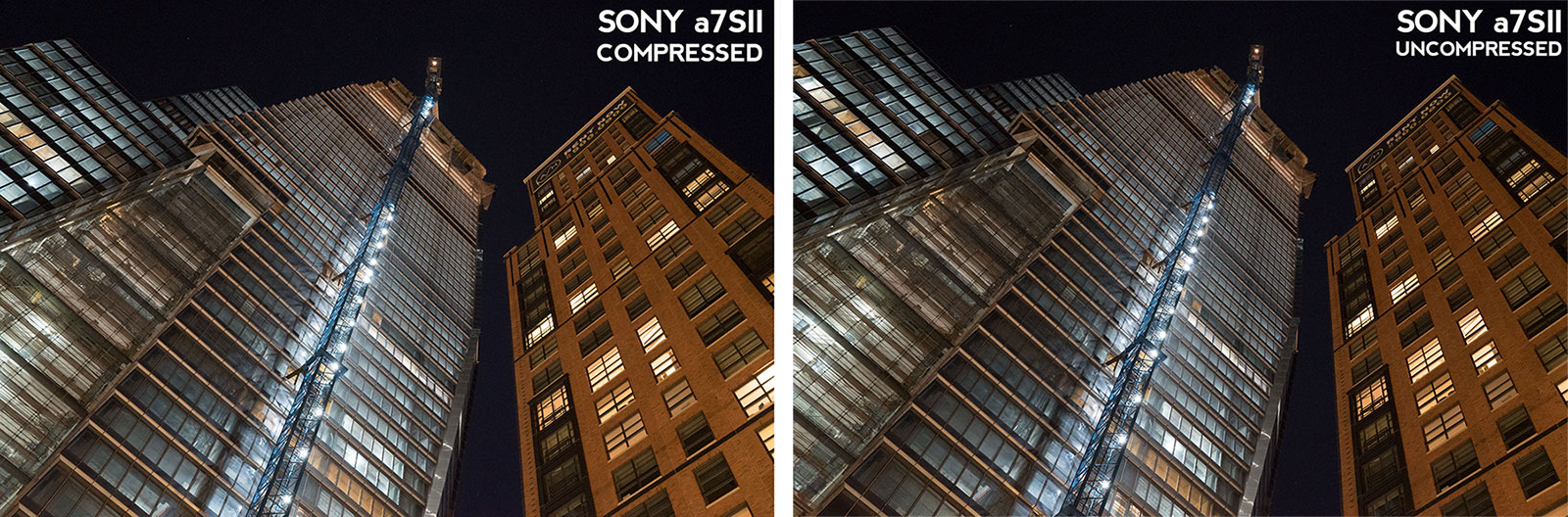 Sony a7SII compressed uncompressed raw