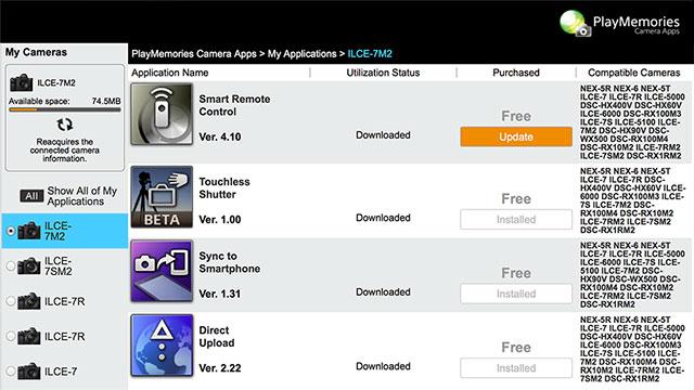 Play-Memories-Camera-App-Updates